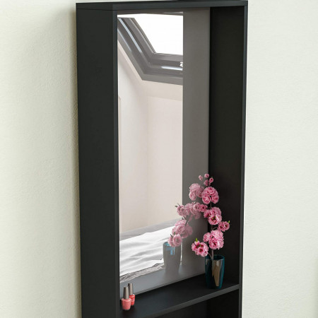 SEA159 - Set Masa toaleta cosmetica machiaj oglinda masuta vanity - Maro, Crem