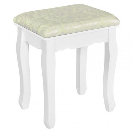 SEA316 - Set Masa alba toaleta cosmetica machiaj oglinda masuta vanity, cu scaunel tapitat