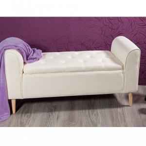 BAC201 - Divan, Canapea, fotoliu, sofa, bancheta, bancuta, banca living, dormitor, hol, lada depozitare - Crem