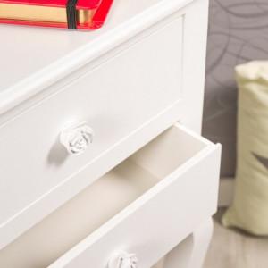 NOA204 - Noptiera alba cu 2 sertare pentru dormitor