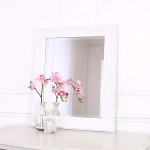 OGG106 - Oglinda 50x60 cm, dreptunghiulara perete dormitor/living/baie - Rama Aurie/Neagra/Alba