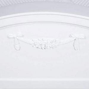 PAA51 - Pat alb dormitor, pentru somn linistit