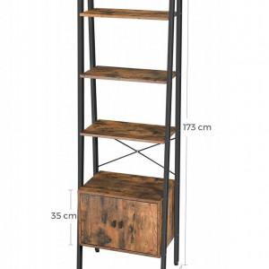 RAI205 - Rafturi birou 56 cm, stil industrial - Maro