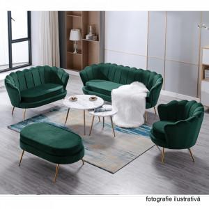 SCAU601 - Fotoliu, Scaun - tapiterie catifea - Verde