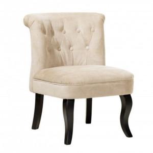 SCN15 - Scaun masuta toaleta machiaj cosmetica, fotoliu, scaunel, divan - tapitat bej