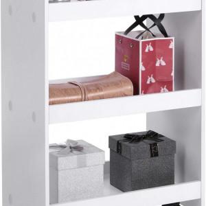 SEA289 - Set Masa toaleta, 90 cm, cosmetica machiaj, oglinda , masuta vanity, comoda make-up - Alb