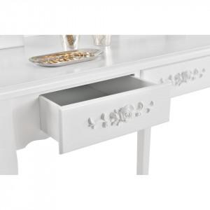 SEA317 - Set Masa alba toaleta cosmetica machiaj oglinda masuta vanity