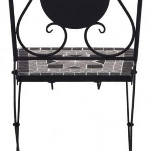 SEGG1 - Set Masa si 2 scaune pliante Mozaic gradina, terasa, balcon - Gri