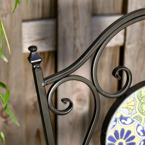 SEGV101 - Set Masa si scaune pliante gradina, terasa, balcon - Negru-Verde