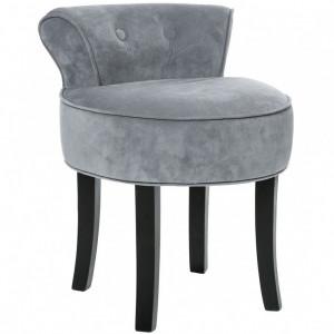 SCN10 - Scaun masuta toaleta machiaj cosmetica, fotoliu, scaunel, divan - tapitat gri