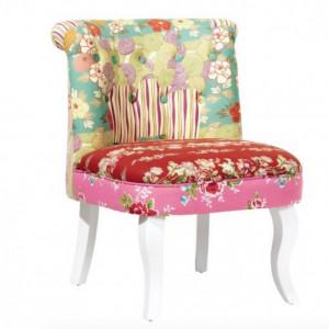 SCA1 - Scaun masuta toaleta machiaj cosmetica, fotoliu, scaunel, divan - tapitat multicolor
