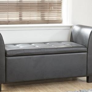 BAN107 - Divan imitatie de piele, Canapea, fotoliu, sofa, bancheta, bancuta cu lada, banca living, dormitor, hol