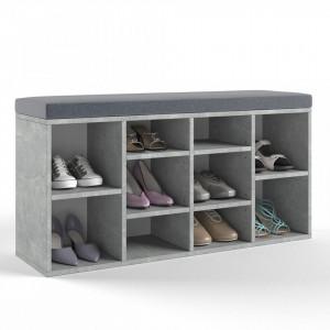 BAG205 - Banca, suport pantofi, pantofar pentru Hol - Gri