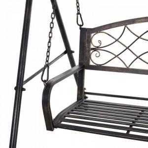 BAN233 - Banca metalica gradina, exterior tip balansoar, hinta, leagan - Bronz