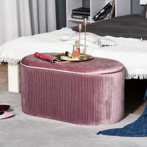 BAN234 - Bancuta 81 cm, bancheta, banca living, dormitor, hol - Roz