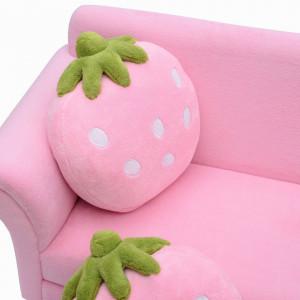 CARC202 - Mini canapea, divan Copii - Roz