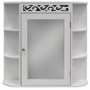 FIO104 - Dulap alb cu oglinda si rafturi - Mobilier Baie Fiore