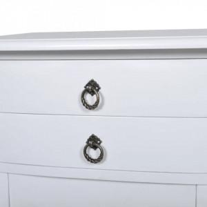 NOA20 - Set 2 Noptiere albe, 40 cm, cu 2 sertare