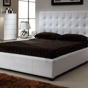 NOA503 - Set 2 Noptiere cu 2 sertare pentru dormitor - Alb mat