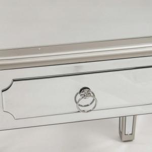 NOOG509 - Noptiera oglinda 54 cm, cu 1 sertar, dormitor - Oglinda - Argintiu