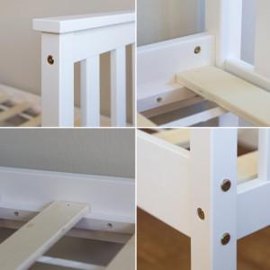 PAAC201 - Pat alb pentru o persoana, dormitor - 70 x 140 cm