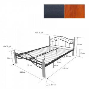 PAM201 - Pat maro - negru dormitor, 140, 160 si 180 x 200 cm