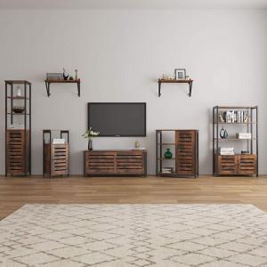 RAI206 - Rafturi living sau birou 70 cm, stil industrial - Maro