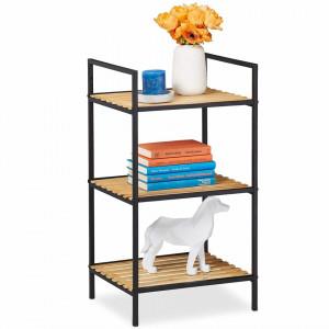 RAI224 - Rafturi 39 cm, cu 3 sau 4 nivele, pentru living, birou, hol, biblioteca stil industrial - Maro