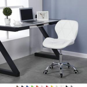 SCA205 - Scaun tapitat diverse culori pentru masa toaleta, birou, bar, imitatie de piele, inaltime reglabila