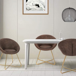 SCAU206 - Scaun masuta toaleta machiaj cosmetica tapitat - Auriu - Maro