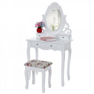 SEA104 - Set Masa alba toaleta cosmetica machiaj oglinda masuta