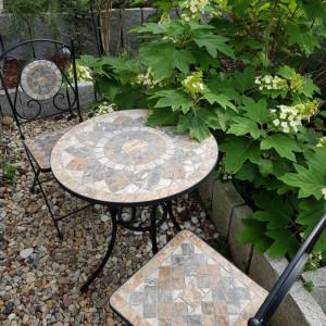 SEGM214 - Set Masa si scaune pliante Mozaic gradina, terasa, balcon