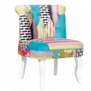 SCA4 - Scaun masuta toaleta machiaj cosmetica, fotoliu, scaunel, divan - tapitat multicolor