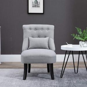 SCAL202 - Fotoliu, scaun masuta toaleta machiaj cosmetica, scaunel, divan tapitat, living, dormitor, dining - Albastru sau Gri