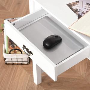BIA206 - Masa de Birou, 116 cm, office cu 4 sertare - Alb