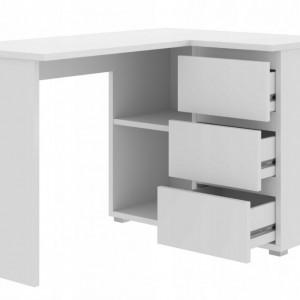 BIA502 - Masa de Birou 124 cm pentru colt, office - Alb, Maro sau Crem