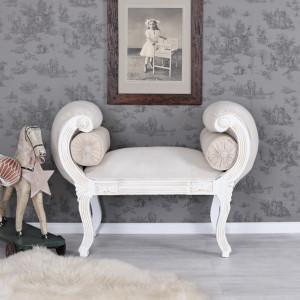 DIVA51 - Divan, Canapea, sofa, bancheta Baroc - Alb