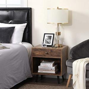 NOI1 - Set 2x noptiere pentru dormitor, industrial - Maro