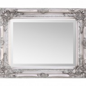 OGG107 - Oglinda 42x53 cm, dreptunghiulara perete dormitor/living/baie - Rama Argintie/Aurie/Crem/Alba/Neagra