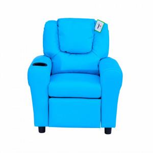 SCALC201 - Mini fotoliu, 62 cm, scaun, scaunel, divan Copii - Albastru