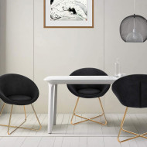 SCAU205 - Scaun masuta toaleta machiaj cosmetica tapitat - Auriu - Antracit