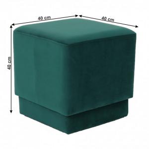 SCAV601 - Scaun tapitat, masa toaleta, taburet machiaj - Verde