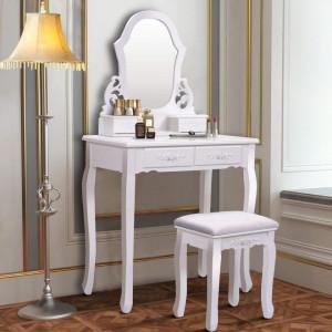 SEA110 - Set Masa alba toaleta cosmetica machiaj oglinda masuta