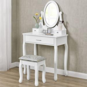 SEA320 - Set Masa alba toaleta cosmetica machiaj oglinda masuta vanity