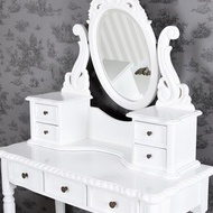 SEA68 - Set Masa alba toaleta cosmetica machiaj masuta vanity oglinda