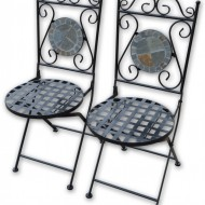 SEGG101 - Set Masa si 2 scaune pliante Mozaic gradina, terasa, balcon - Gri