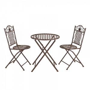 SEGM5 - Set Masa si scaune gradina, terasa, balcon, veranda - Maro