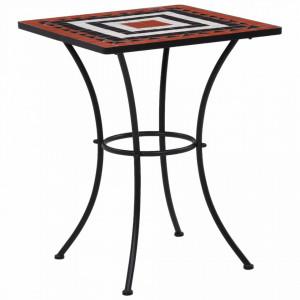 SEGM9 - Set Masa patrata si scaune pliante Mozaic gradina, terasa, balcon - Maro