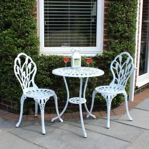 SEGA201 - Set Masa si scaune gradina, terasa, balcon - Alb