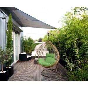 SCAGM602 - Scaun, fotoliu suspendat, balansoar gradina, terasa, balcon - Maro si Bej